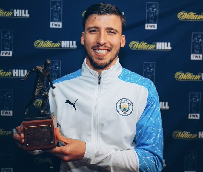 Manchester City's Ruben Dias crowned FWA Footballer of the Year