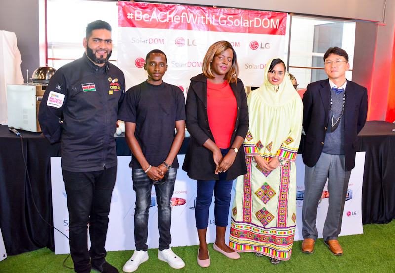 """Sharon Andisi, Zahra Jalalkhan and Teddy Lewis Kiemo are the winners in a digital campaign by LG Electronics dubbed """"LG's the Spot"""""""