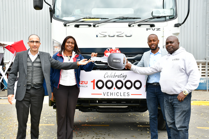 Motor vehicle dealer Isuzu East Africa has crossed100,000th production milestone since commencement of operations in 1977