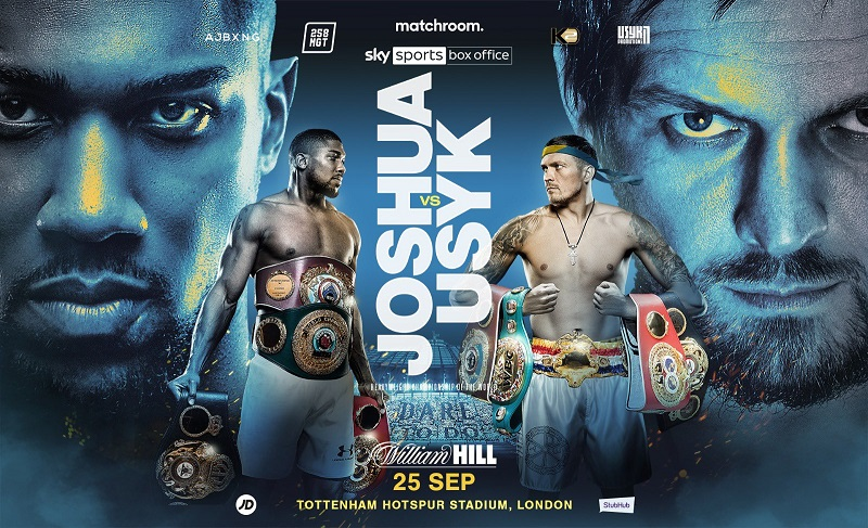 Heavyweight champion Anthony Joshua will defend his titles against Oleksandr Usyk on September 25.