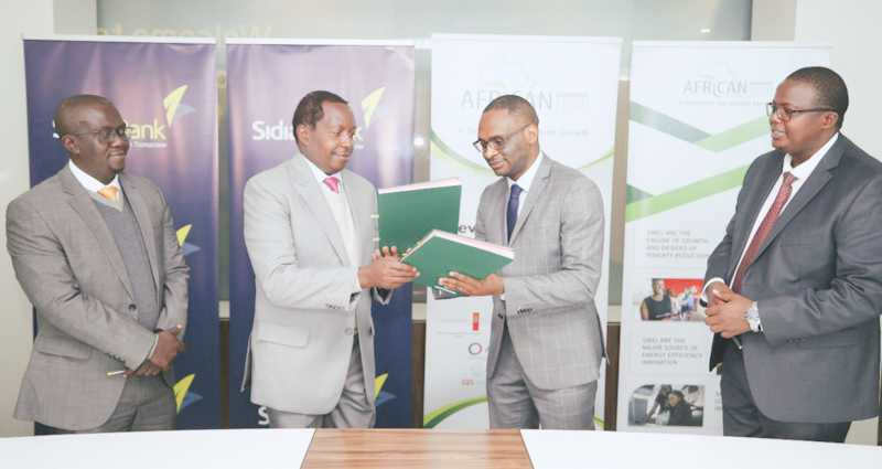 The AGF Loan Portfolio Guarantee will enable Sidian Bank scale up their lending activities to Small and Medium sized enterprises through provision of credit facilities.