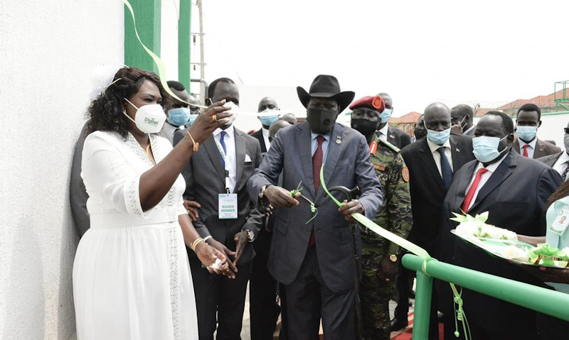 South Sudanese President Salva Kiir on Monday launched the operation of the first-ever South Sudanese-owned mobile telecom company.