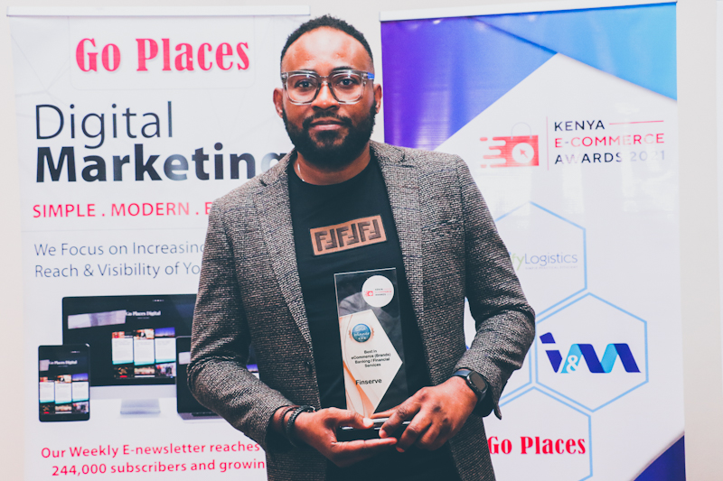 FinserveAfrica, has been named the Best in E-commerce - Banking/Financial and Insurance Services Gold Category at the 3rd Edition of the Kenya E-Commerce Awards 2021 held in Nairobi.