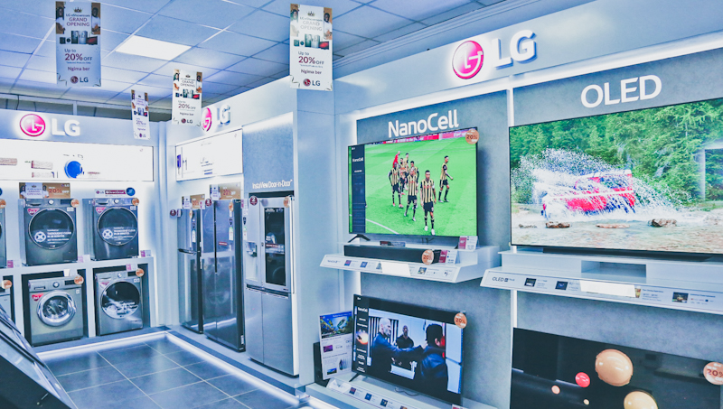 Located at Thika Road Mall (TRM) the LG Electronics store projects to increase its sales backed by technical expertise before and after sales to attract and retain customers.