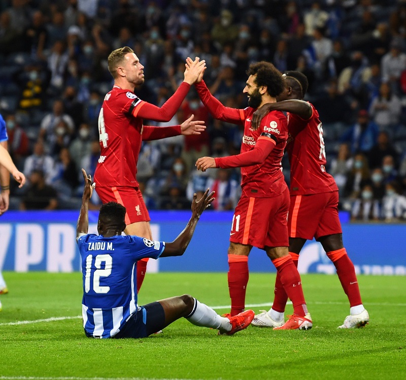 Liverpool put five goals past FC Porto as the Reds marched to a comfortable 5-1 victory.