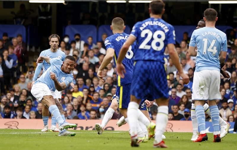 Gabriel Jesus was on target as Manchester City got a decisive 1-0 win over Chelsea at the Stamford Bridge.