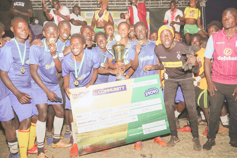 BETIKA HOLDS THE FUNDI BINGWA CUP FOR JUAKALI ARTISANS